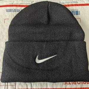 Black bNike Swoosh Logo Unisex Casual Beanie Hats